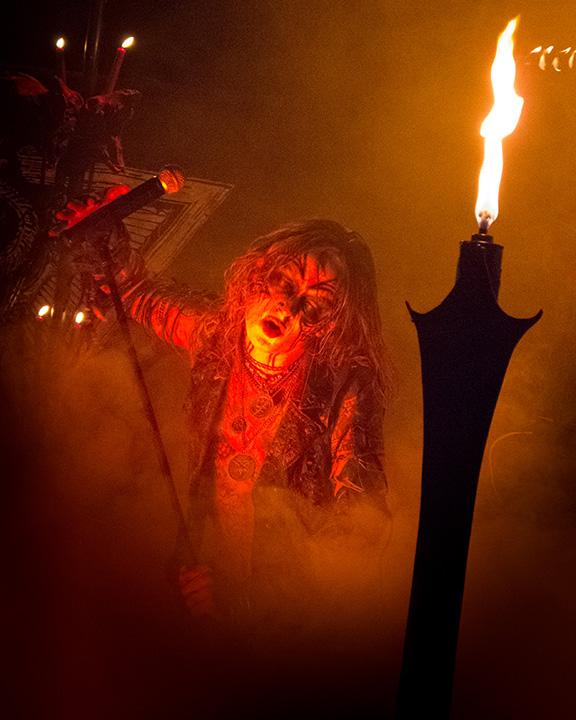 Watain på Trädgårn. Foto: Pierre Gildert