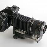 Automatik Balgengeraet mit Kamera, Objektiv und Umkehrring
