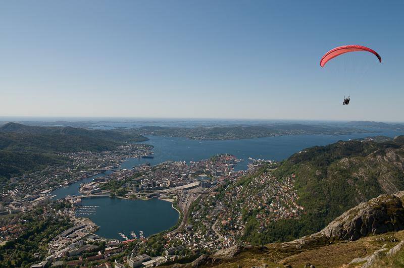 Paraglider, Bergen, Norge 2008